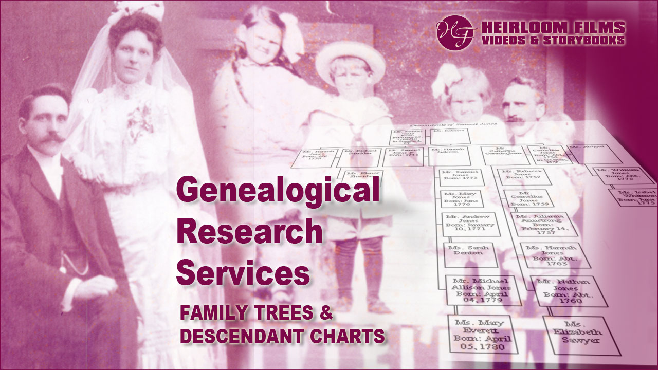 Genealogy Services Heirloom Films