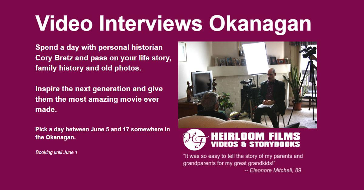 Life Story Family History Video Interviews Okanagan